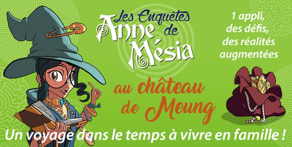 Affiche Enquêtes Anne Mésia au château de Meung